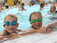 Holiday parks with children's swimming pool