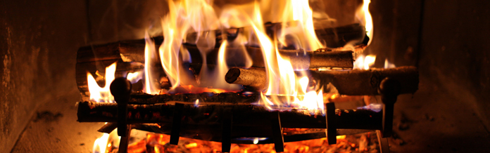 Holiday cottages with an open fire