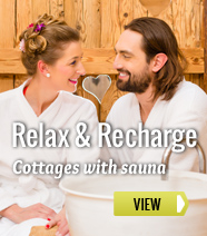 Holiday cottages with sauna