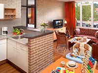 Holiday cottages with open plan kitchen