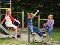 Holiday parks with playground