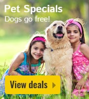 Pet Specials: Dogs go free!