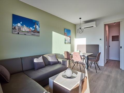 5-person apartment 50 Studio (max. 2 adults)