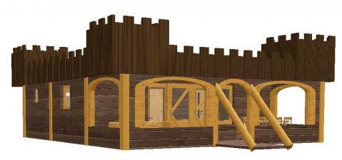 7-person mobile home/caravan Kasteel Lodge