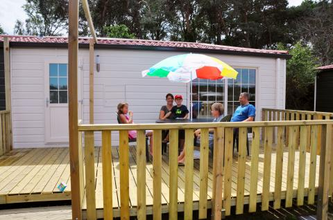 4-person mobile home/caravan Campinghotel