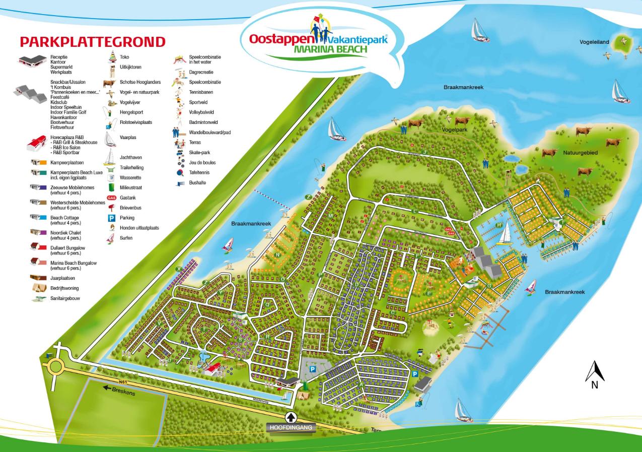 Vakantiepark Marina Beach Map Amp Ground Plan The Best